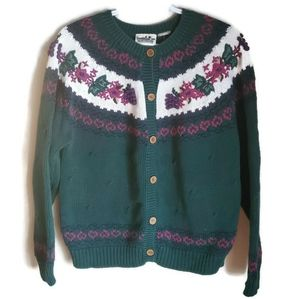 Northern Reflections   Vintage Button up Sweater